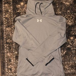 Men's Grey Under Armour Chimney Neck